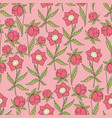 dark flowers seamless pattern for decoration vector image