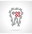 Dental disease simple line icon vector image