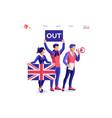 european union uk brexit concept vector image vector image