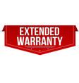 extended warranty banner design vector image vector image