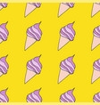 fashionable seamless pattern with sweet food pink vector image vector image