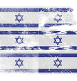 Flag of Israe with old texture vector image