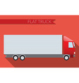 Flat design city Transportation truck for vector image