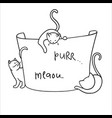 frame with funny cartoon cats vector image vector image