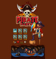 game template with pirate theme background vector image vector image