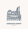 geological survey engineering flat line vector image