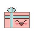 giftbox present kawaii character vector image