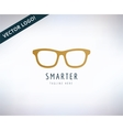 glasses icon education and smart stock vector image