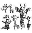hand drawn of giraffe vector image vector image