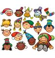 happy kids for Christmas design vector image