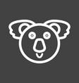koala bear face vector image vector image