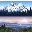 Landscape Of Mountains Banners vector image vector image