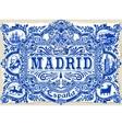 Madrid Azulejos 01 Vintage 2D vector image vector image