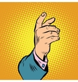 Male hand pointing or holding vector image vector image