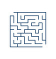 maze or labyrinth isolated on white background vector image