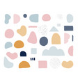 modern trendy abstract shapes in pastel colors vector image