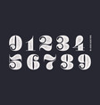 number font classical french didot style texture vector image vector image