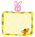 Pink Easter Rabbit With Sign vector image vector image