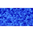 polygonal blue triangle mosaic webpage background vector image vector image