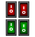rectangle toggle power switches vector image vector image