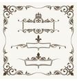 Royal crowns and fleur de lys ornate frames vector image vector image