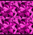seamless pink abstract geometric rumpled vector image vector image