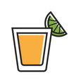 shot served with lime vector image vector image