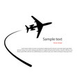 silhouette a plane taking off vector image