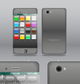 Smoke grey modern touchphone gadget vector image vector image