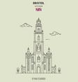 st pauls church in bristol vector image vector image