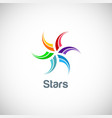 star colorful spin logo vector image vector image