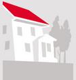 suburb comfortable house outside city vector image