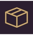 The box icon Delivery and shipping symbol Flat vector image vector image