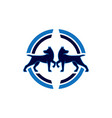 two dog abstract concept logo icon vector image
