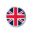united kingdom flag badge vector image vector image