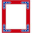 usa flag symbolism patriotic border frame vector image vector image