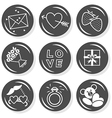 Valentines day love icon set vector image