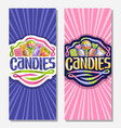 vertical banners for candies vector image vector image