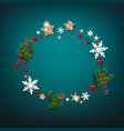 winter holiday christmas blue design vector image