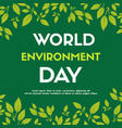 world environment day background color green