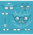 Glasses Hand Drawn Labeles Collection vector image