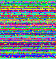 The loss of the television signal corrupted image vector image