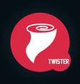 twister icon vector image