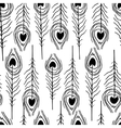 seamless feather patterns vector image