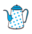 A kettle is placed vector image vector image