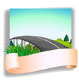 A road and a blank paper vector image vector image