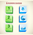 abstract business infographics vector image