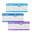 Air Tickets Isolated on White Background vector image vector image