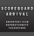 alphabet on scoreboard set of white letters of vector image vector image