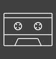 audio cassette line icon music and instrument vector image